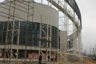 Фото Процесс монтажа элементов колоннады