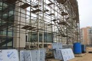 Фото Подготовка к монтажу навесных композитных панелей